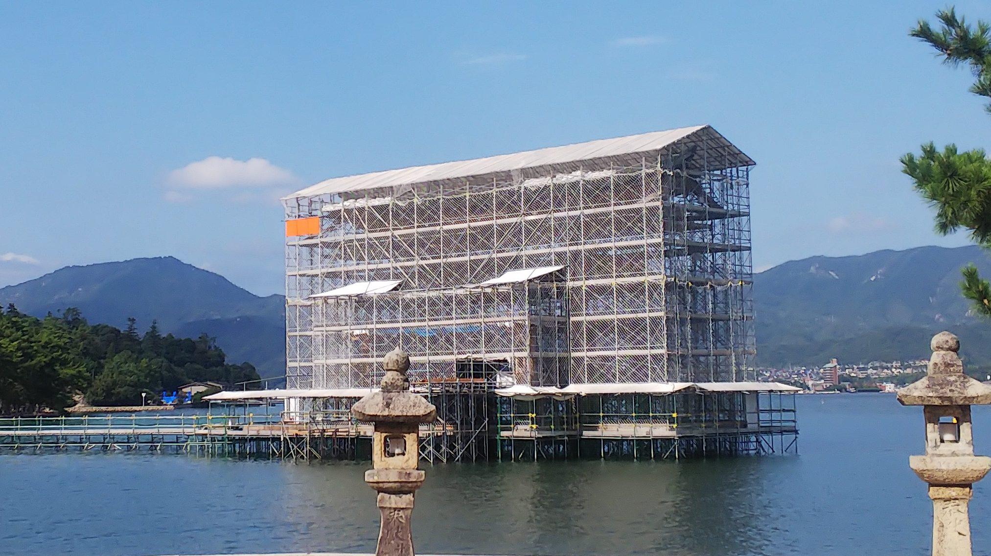 工事 厳島 神社