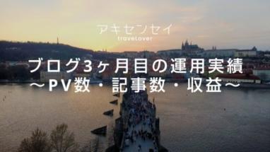 ブログ3か月目の運用実績~記事数・PV・収益~